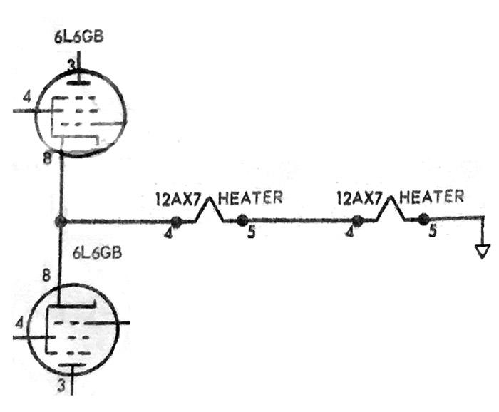 Schematic of 6L6 tube bias design