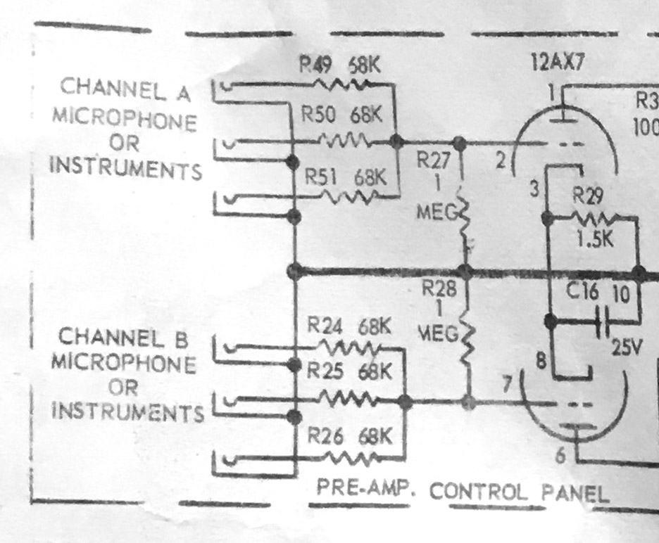 The input circuit of the Airline 9005